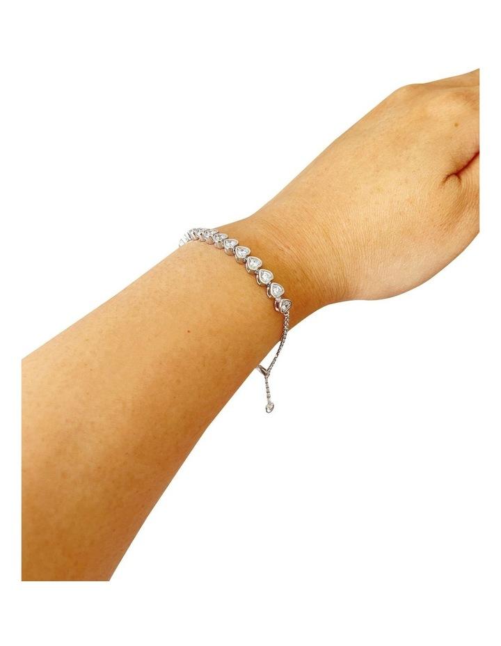 Cz Hearts Tennis Bracelet image 2