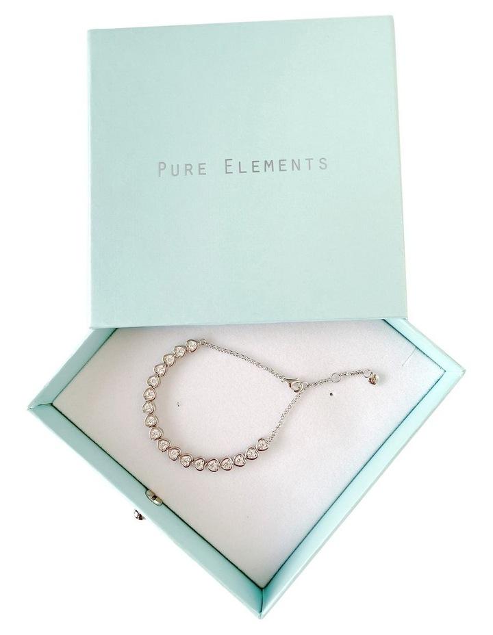 Cz Hearts Tennis Bracelet image 3
