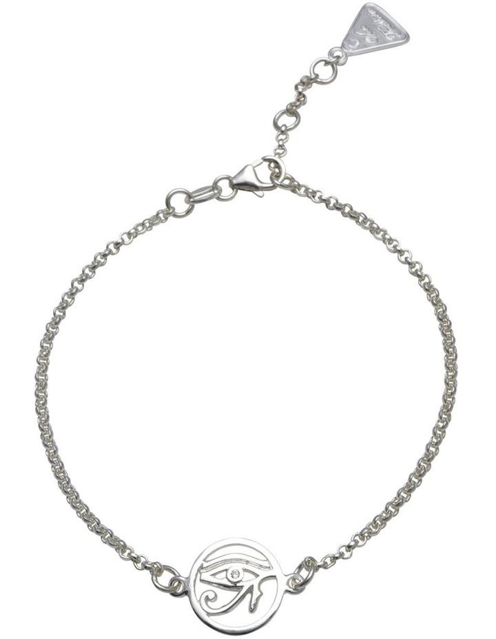 Eye Of Horus Belcher Silver Bracelet image 1