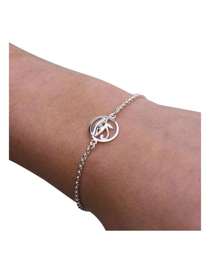 Eye Of Horus Belcher Silver Bracelet image 2