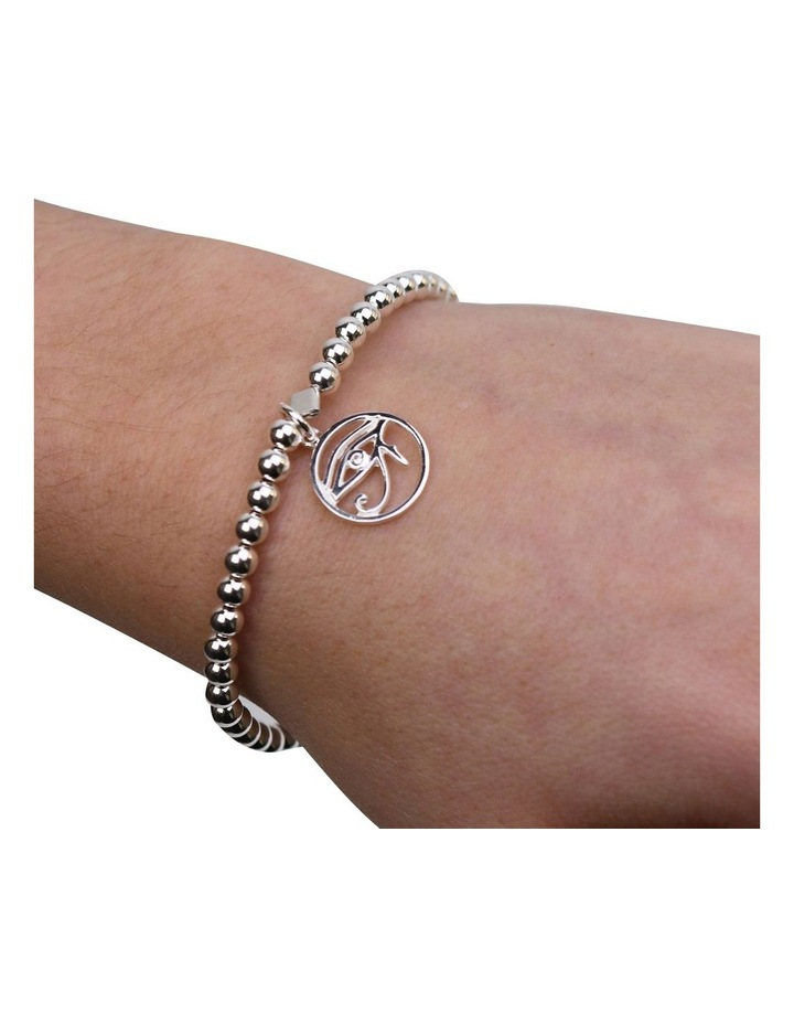 Eye Of Horus Stretchy Silver Bracelet image 2