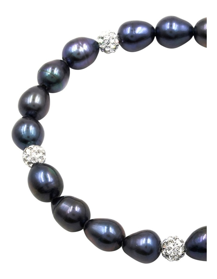 7-8mm Freshwater Pearls and Crystal Roundels Stretch Bracelet image 4