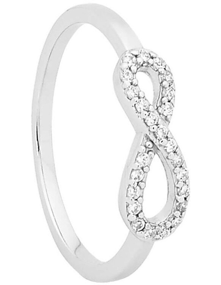 Petite Infinity Ring Sterling Silver image 1
