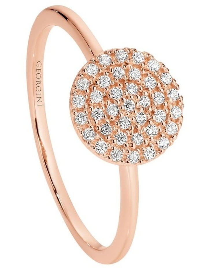 Pavo Rose Gold Ring Sterling Silver image 1