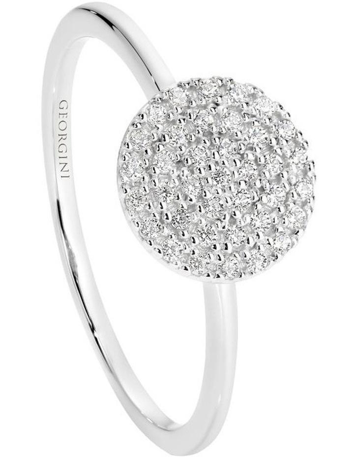Pavo Rhodium Ring Sterling Silver image 1