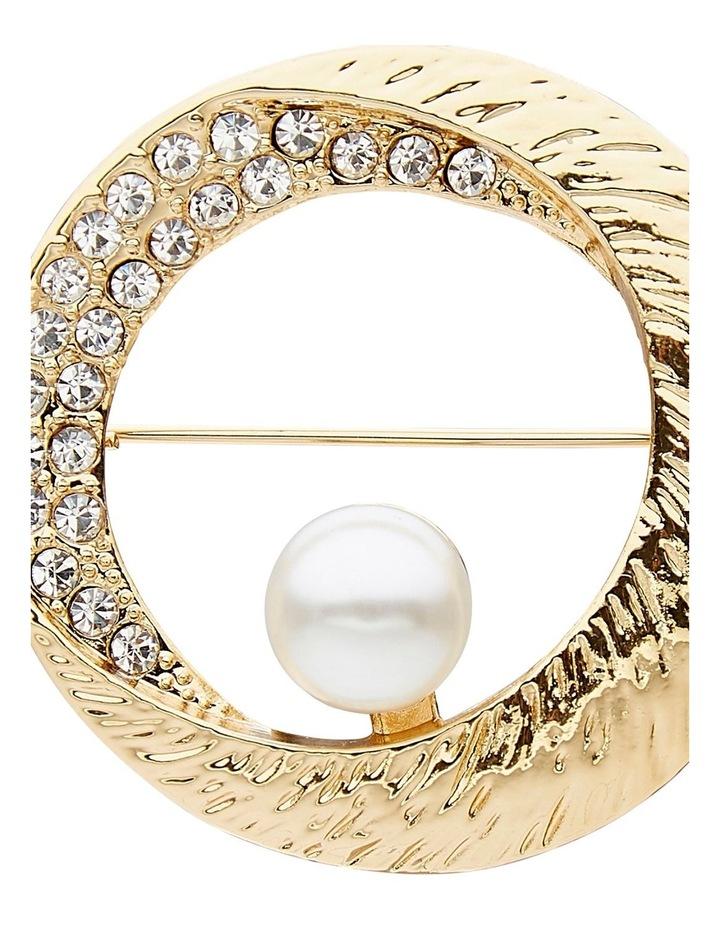 Pearl & Crystal Brooch image 2