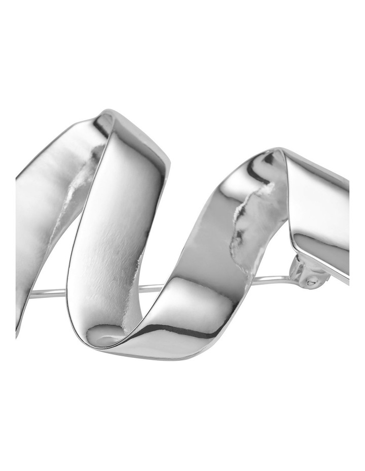 Modern Wave Silver Brooch image 2
