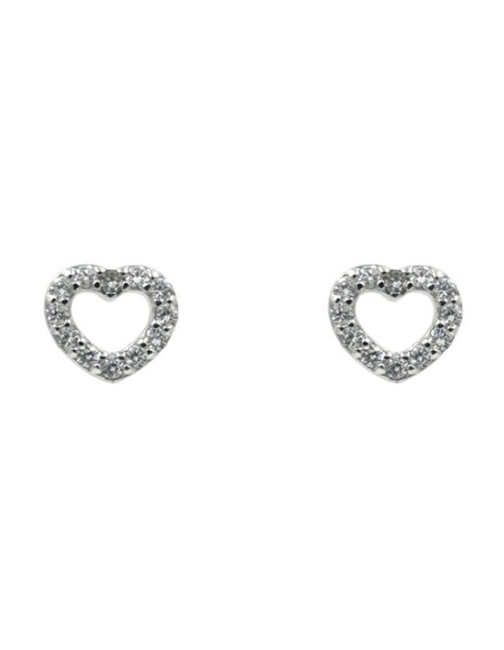 With Love Brilliant Dainty Stud Earrings image 1