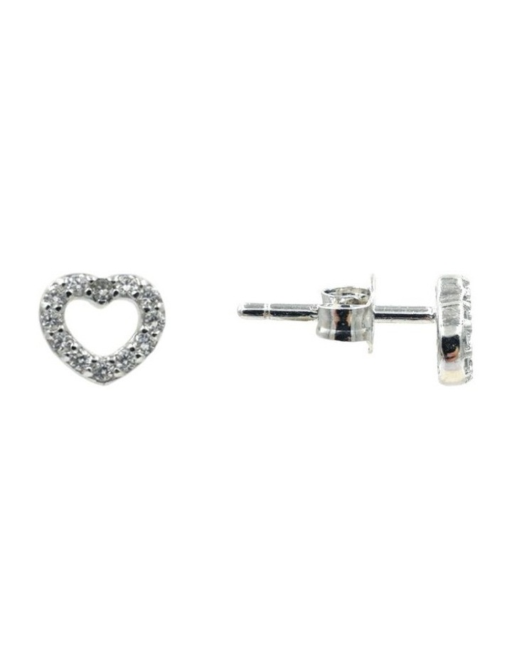 With Love Brilliant Dainty Stud Earrings image 2