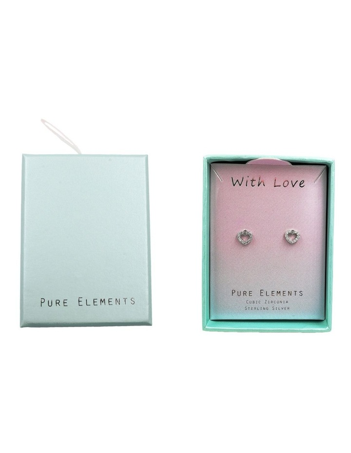 With Love Brilliant Dainty Stud Earrings image 3