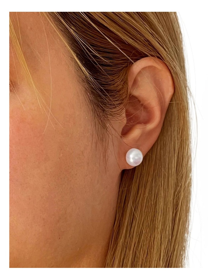 """""""With Love"""" Gift Pearl Studs image 2"""