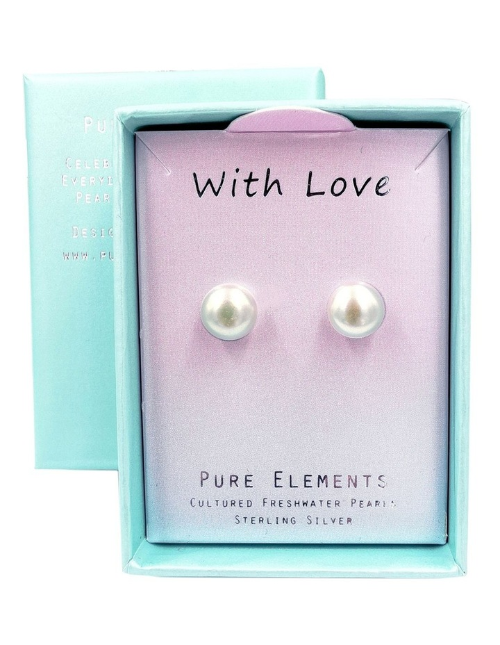 """""""With Love"""" Gift Pearl Studs image 3"""
