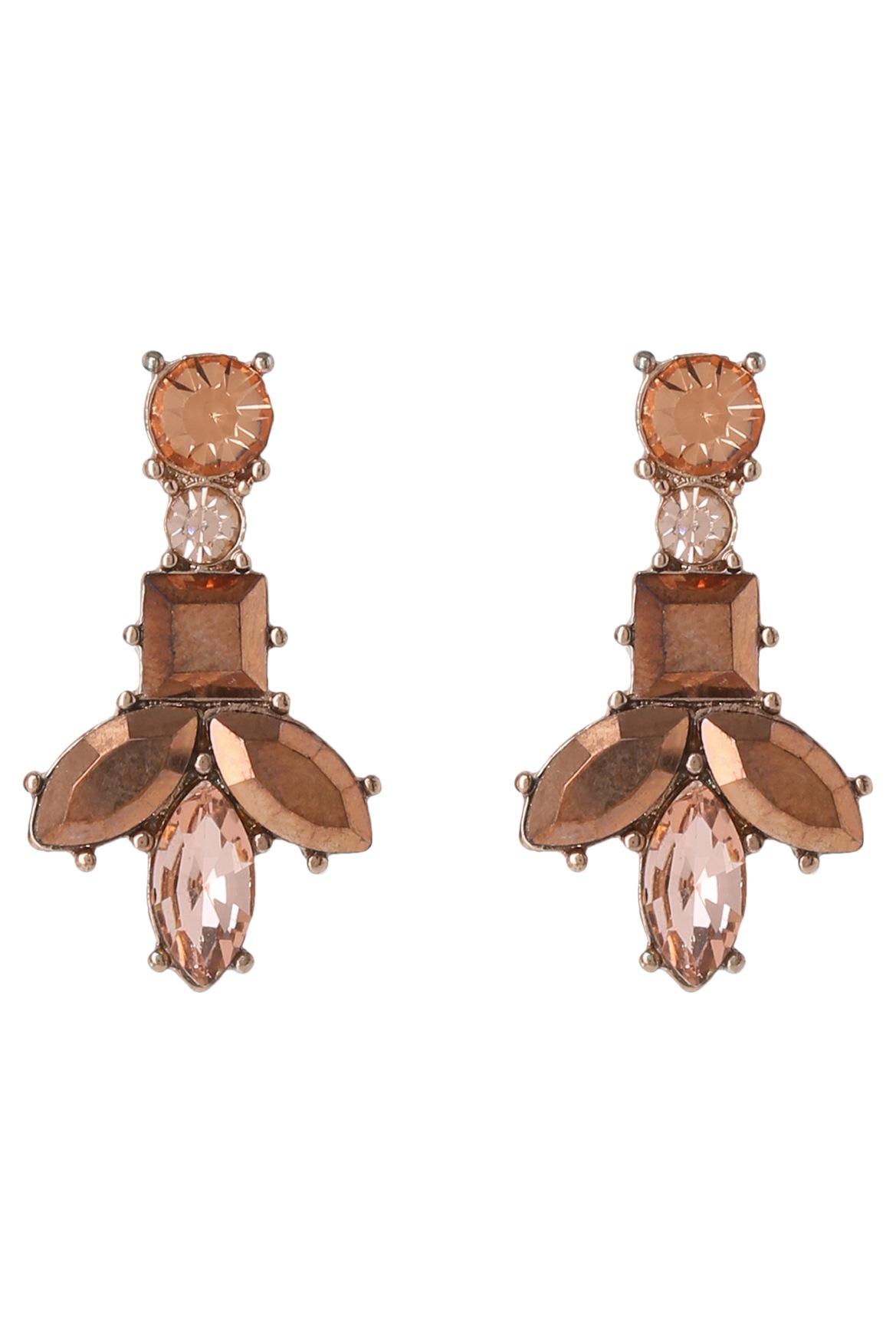 Wayne Cooper - WCHSS17ER86 Simple Floral Crystal Earring