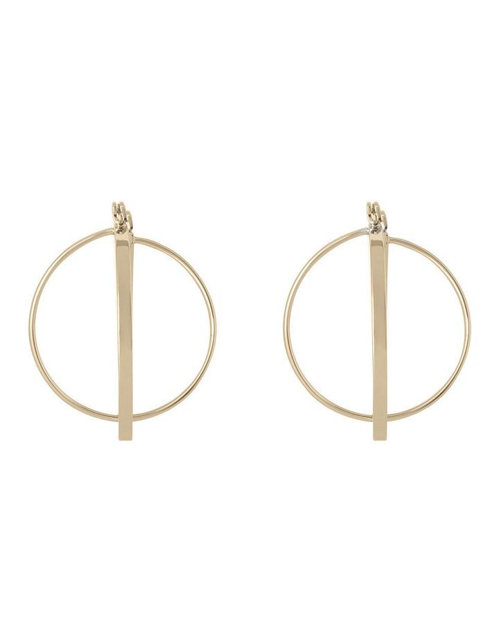 WCHSW17ER24 Sculptural Metal Sleek Atom Hoop Earrings image 2