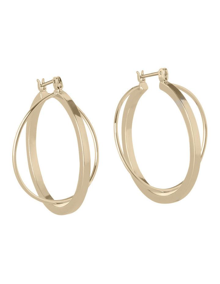WCHSW17ER24 Sculptural Metal Sleek Atom Hoop Earrings image 3