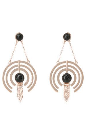 Wayne Cooper - WCJHW17ER30 Marbled Resin Crop Circle Fringe Earrings