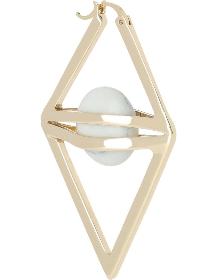WCJHW17ER41 Marbled Resin Large Caged Resin Triangle Hoop Earrings image 2