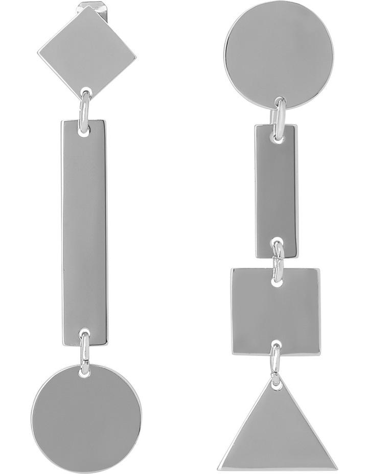 WCGEW17ER54 Geometric Metal Long Mismatched Geometric Post Earrings image 1