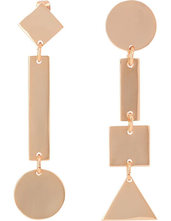 WCGEW17ER66 Geometric Metal Long Mismatched Geometric Post Earrings image 1