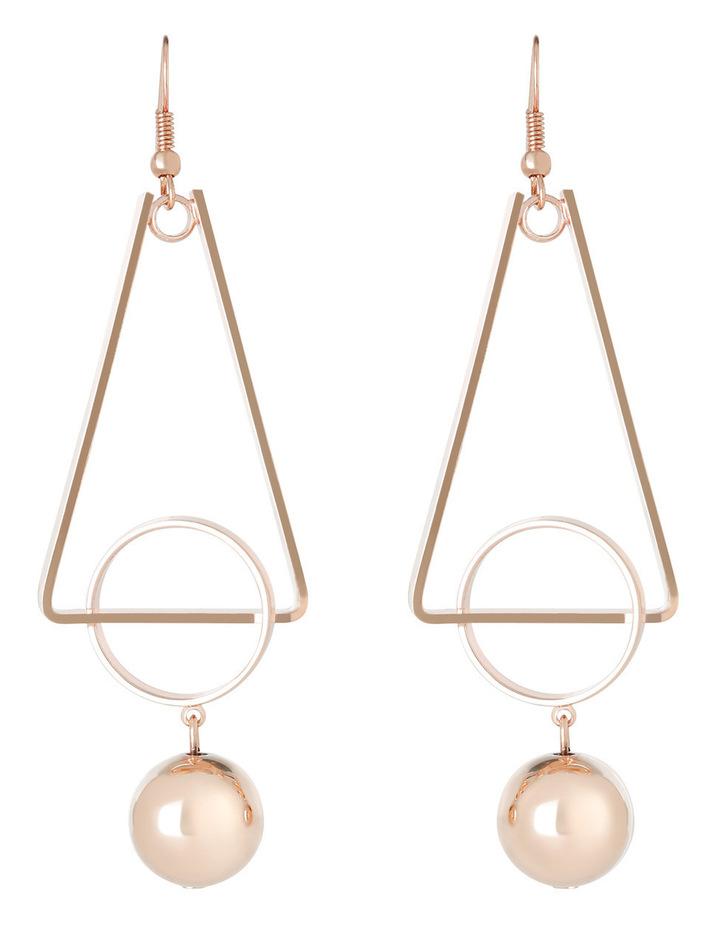 WC3EW17ER137 Long Geometric Ball Drop Earrings image 1