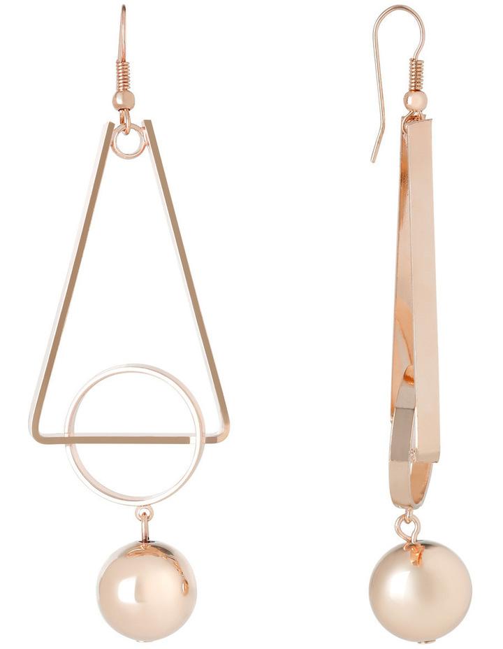 WC3EW17ER137 Long Geometric Ball Drop Earrings image 2