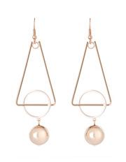 Wayne Cooper - WC3EW17ER137 Long Geometric Ball Drop Earrings