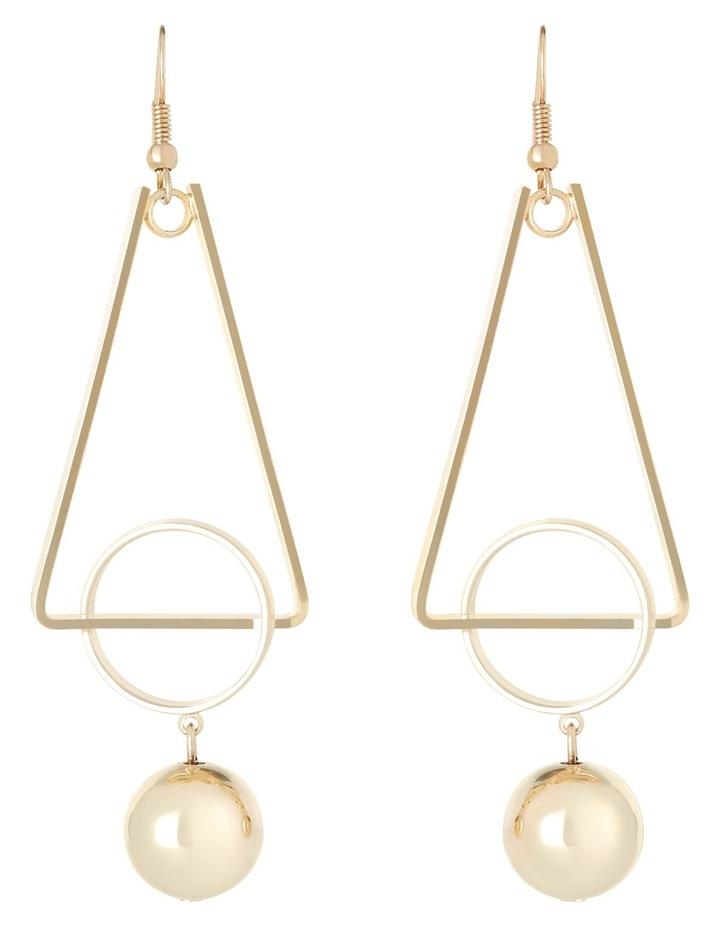 WC3EW17ER138 Long Geometric Ball Drop Earrings image 1