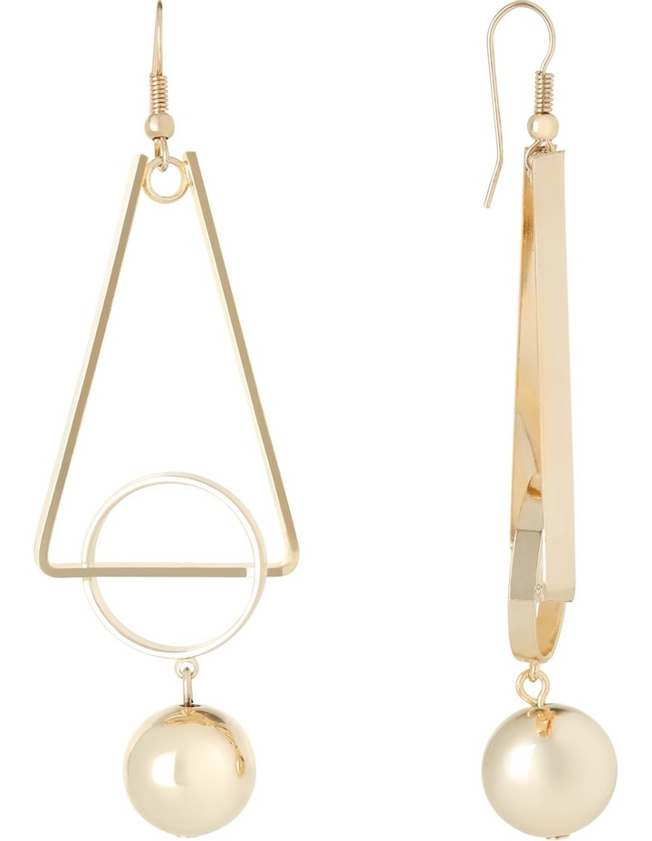WC3EW17ER138 Long Geometric Ball Drop Earrings image 2
