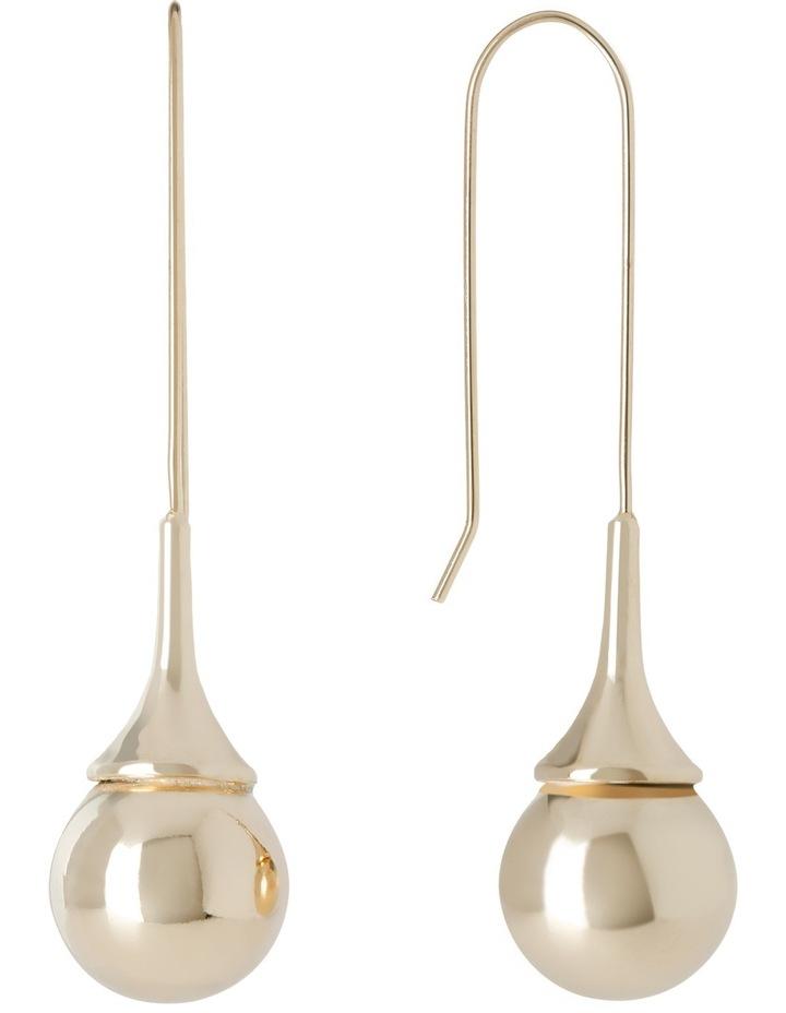 A67404BA Metal Mania Teardrop Ball Hook Earring image 2