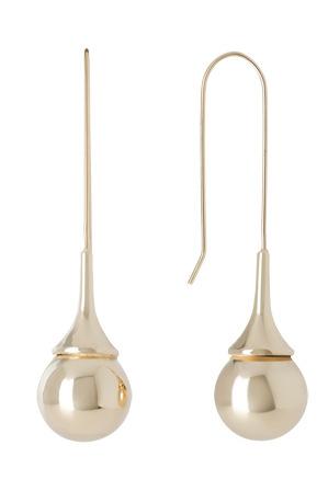 Basque - A67404BA Metal Mania Teardrop Ball Hook Earring