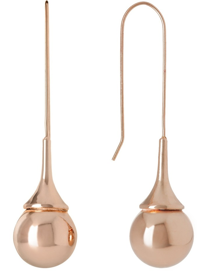 A67404BA/ROSE Metal Mania Teardrop Ball Hook Earring image 2