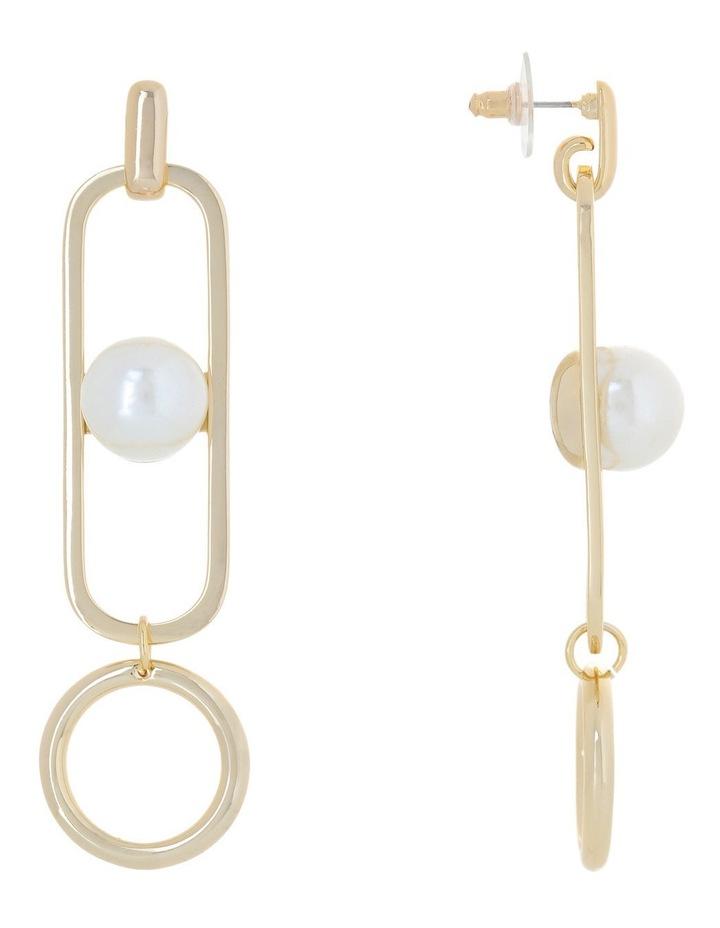 WCGES18ER332 Elongated Pearl Ball Earring image 2