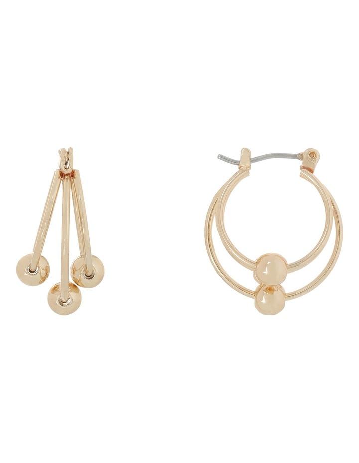 WCBJS18ER101 3 Ball Mini Hoop Earring image 1