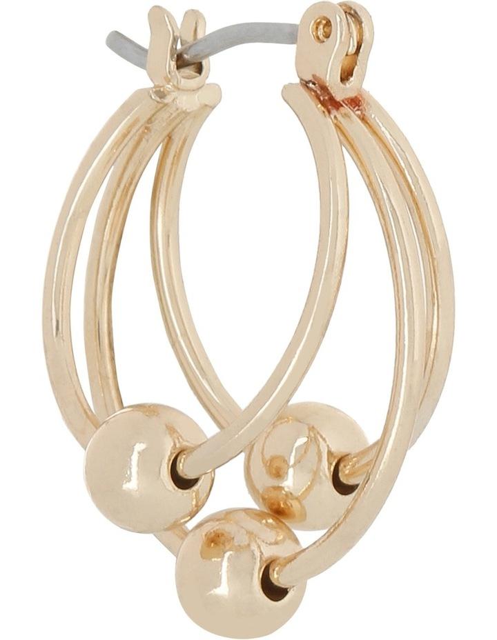 WCBJS18ER101 3 Ball Mini Hoop Earring image 2