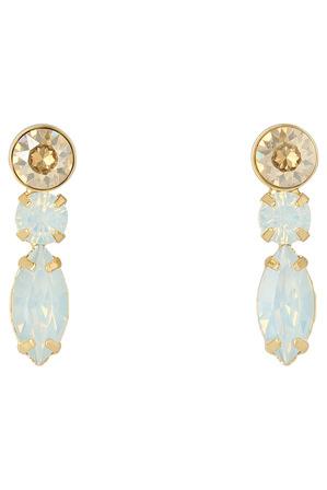 Wayne Cooper - WCGES18ER115 3 Drop Glass Stone Earring