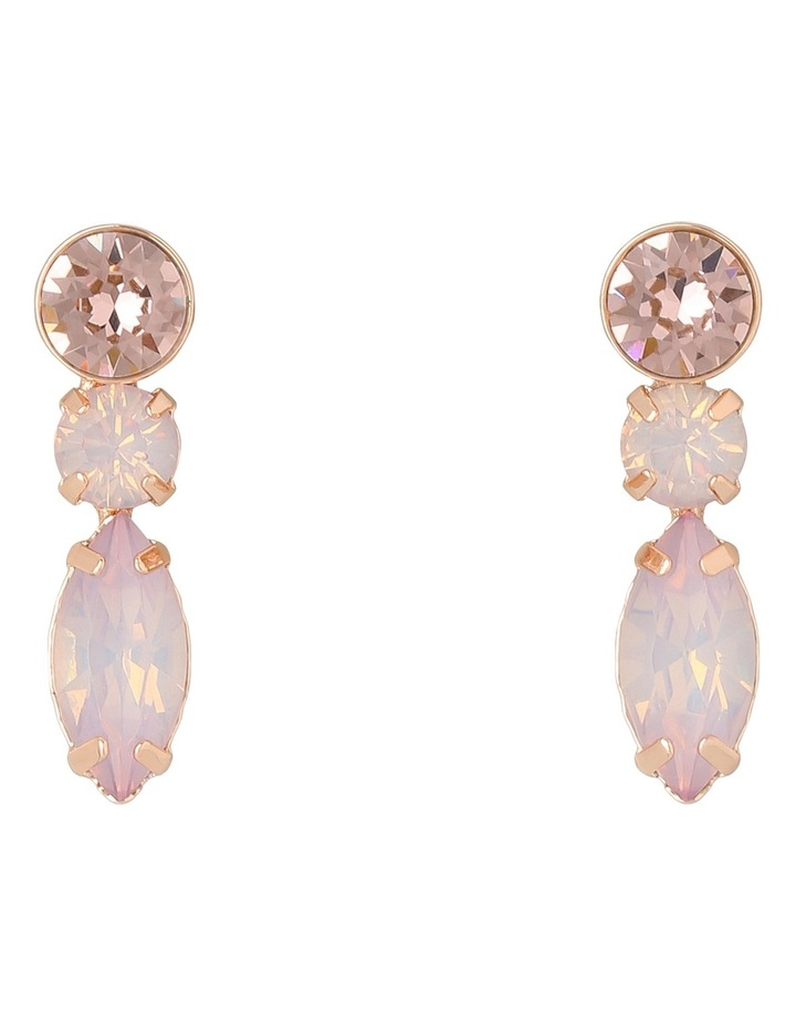 WCGES18ER123 3 Drop Glass Stone Earring image 1