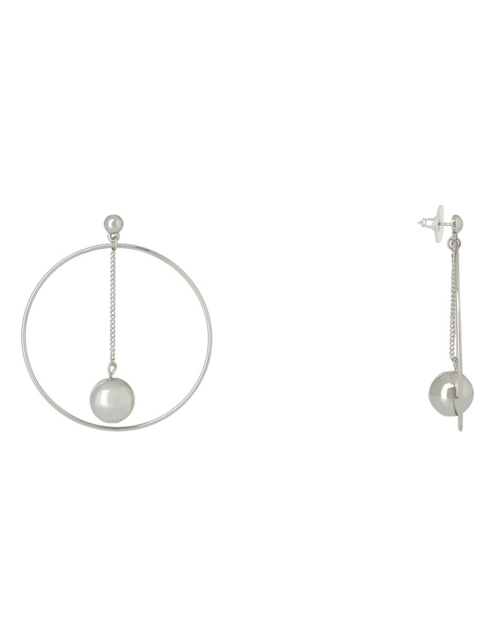 WCJHS18ER95 Ball Chain In Large Ring Earring image 2