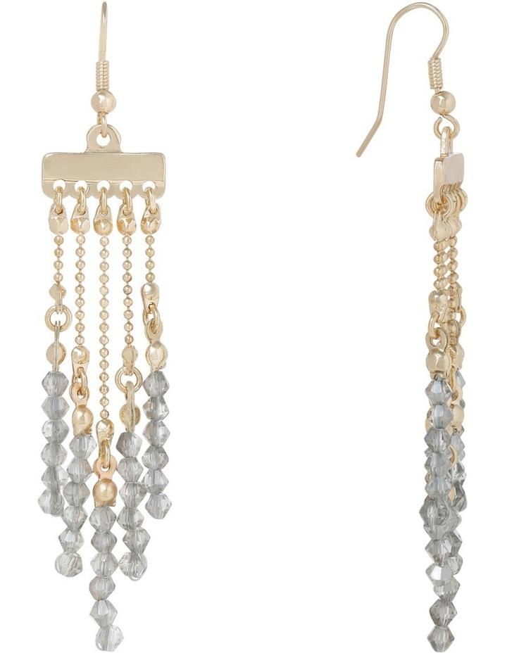 Long fringe chain and beaded earrring image 2