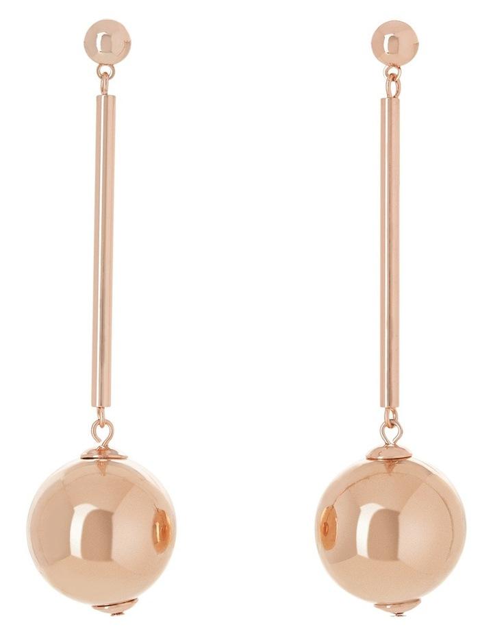 Long Stick Large Ball Earrings image 1