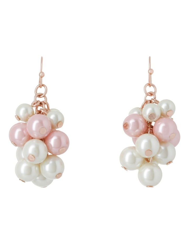 Bunchy Pearl Fish Hook Earring image 1