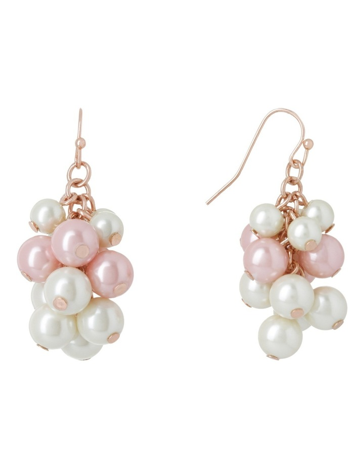 Bunchy Pearl Fish Hook Earring image 2