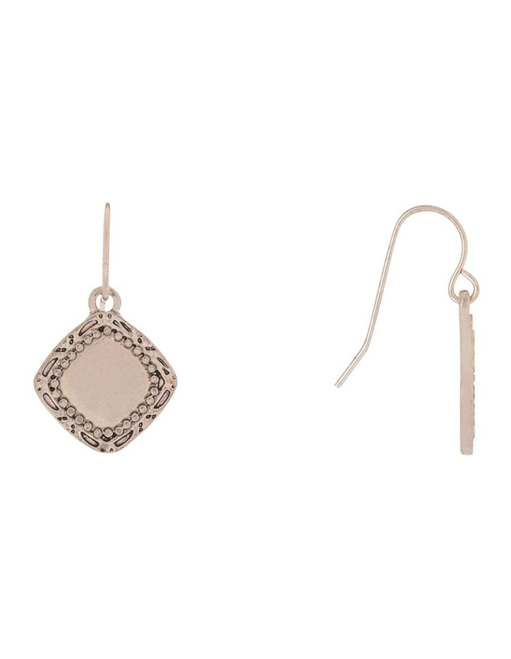 Boho Charm Mini Drop Earring Rose gold image 2