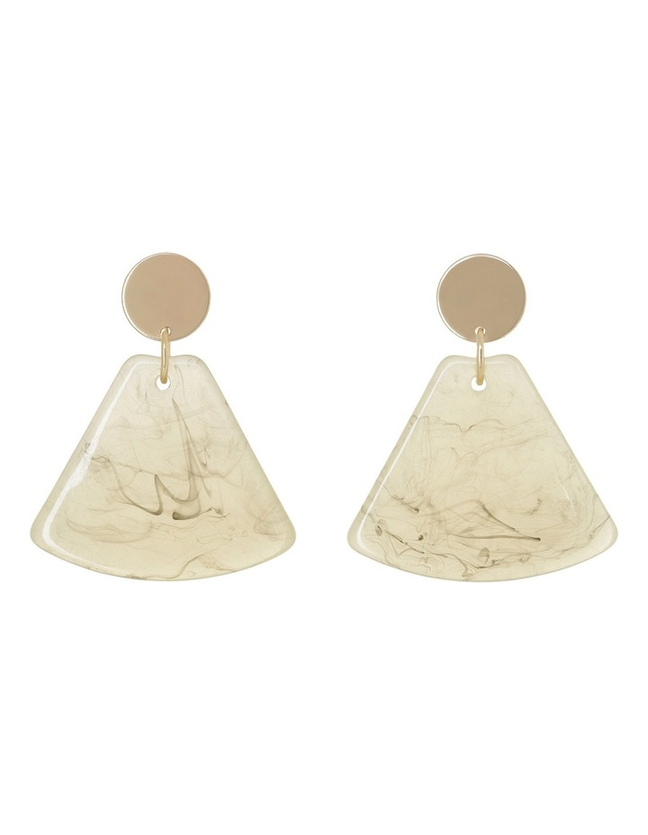 Resin Triangle Drop Earring Nude image 1