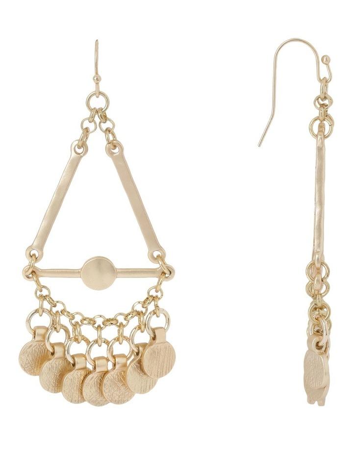 Gypsy metal drape earring image 2