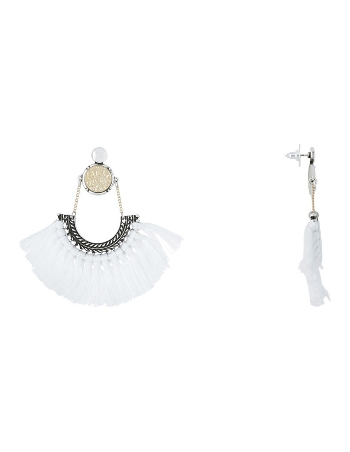 Eclectic Coin Tassel Earrings image 2