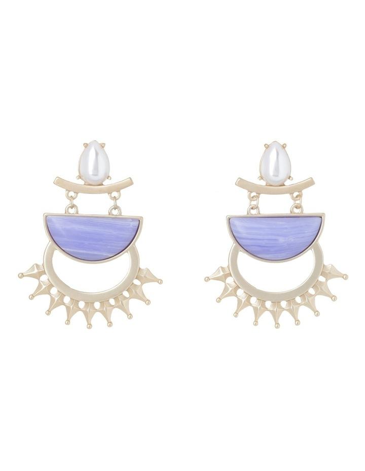 Pearl Agate Large Hoop Earring image 1