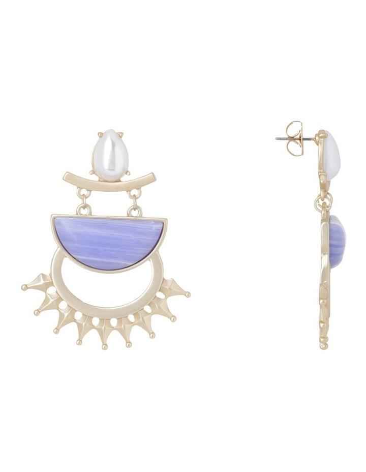 Pearl Agate Large Hoop Earring image 2