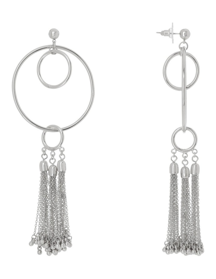 Statement Circle & Tassel Drop Earring image 2