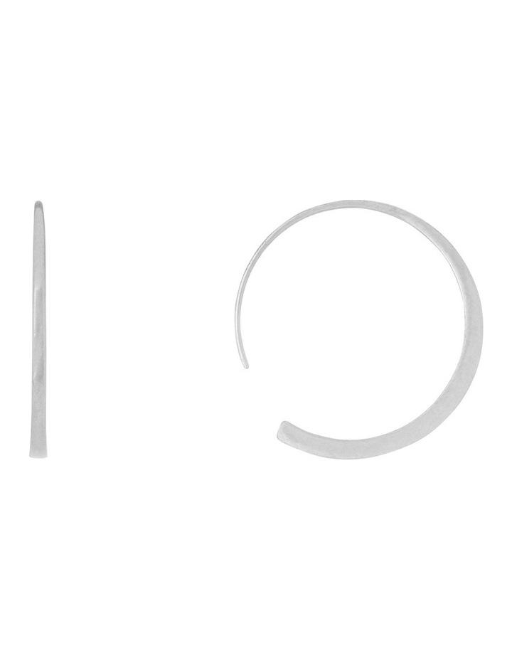 Modern Split Hoop Earrings image 1