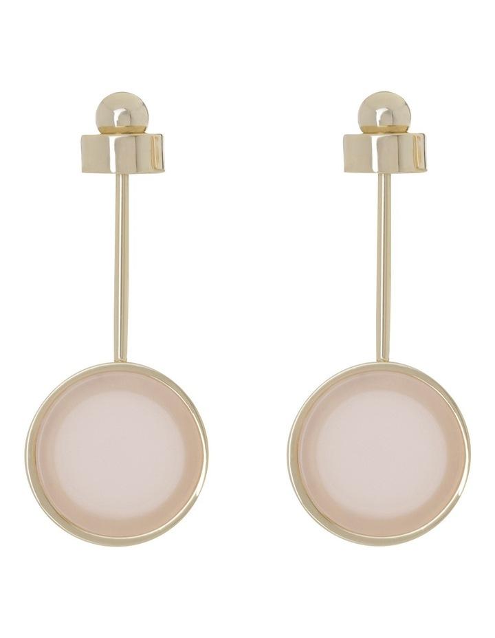 Metal Drop with Flat Circle Earrings image 1